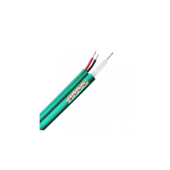 Cable coaxial avec alimentation