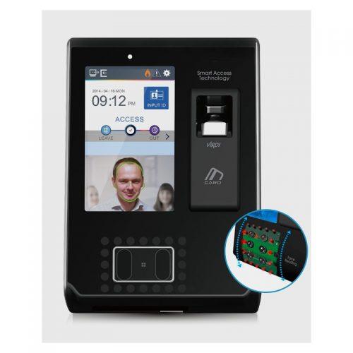 Terminal de reconnaissance de visage et d'empreintes digitales haute performance IP